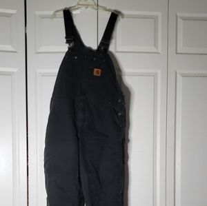 Carhartt Overalls Black Size 44X30 Quilt Lined